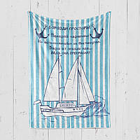 Фотоплед яхта на тему петешевствий, морские приключения - подарок любимому [117]