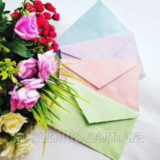 Конверт кольоровий А6\конверт кольоровий А6
