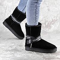 Женские замшевые угги Fashion Janov 1403 36 размер 23 см Черный