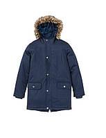 Куртка детская парка темно-синяя (158) Pepperts!