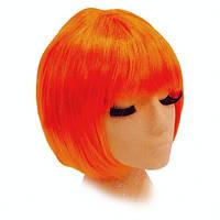 Парик Каре оранжевый из искусственных волос.