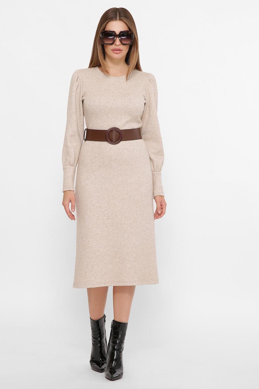 Ангоровое платье с поясом