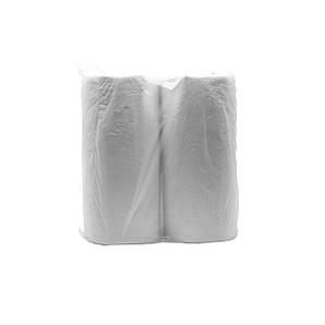 Полотенце бумажное 2 слоя 21х25 см. белое 2 рулона/уп