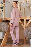 Женская рубашка для дома с кружевом тмено-лиловая Долорес, фото 3
