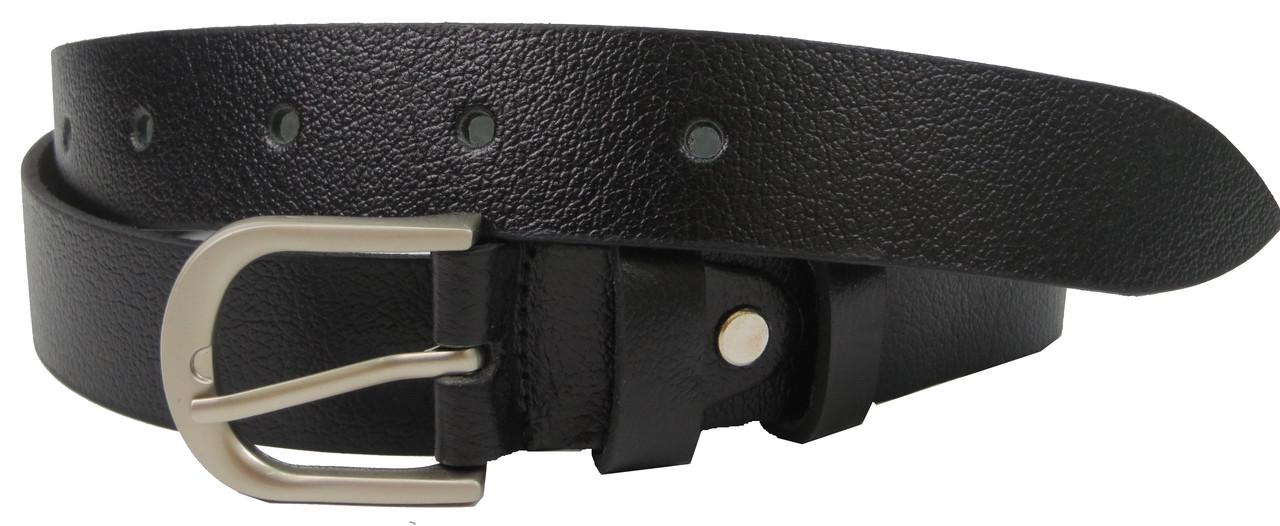 Женский кожаный ремень, пояс Skipper, черный 3 см
