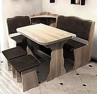 Кухонный комплект Симфония Дуб Сонома. Уголок, стол, стулья
