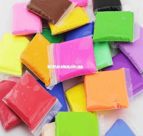 Глина для слайма набор 12 цветов