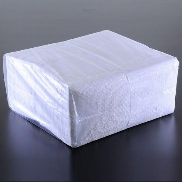 Салфетка бумажная барная 1-но слойная 24х24 см. 500 шт/уп белая