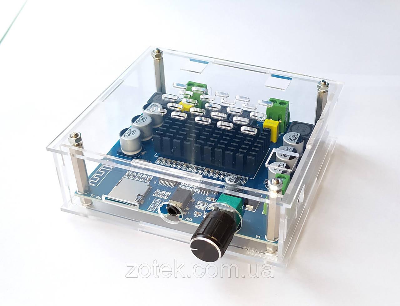 З Корпусом TDA7498 Bluetooth v5.0 2*100W Підсилювач звуку XH-A105 2.0, DC 12-30В