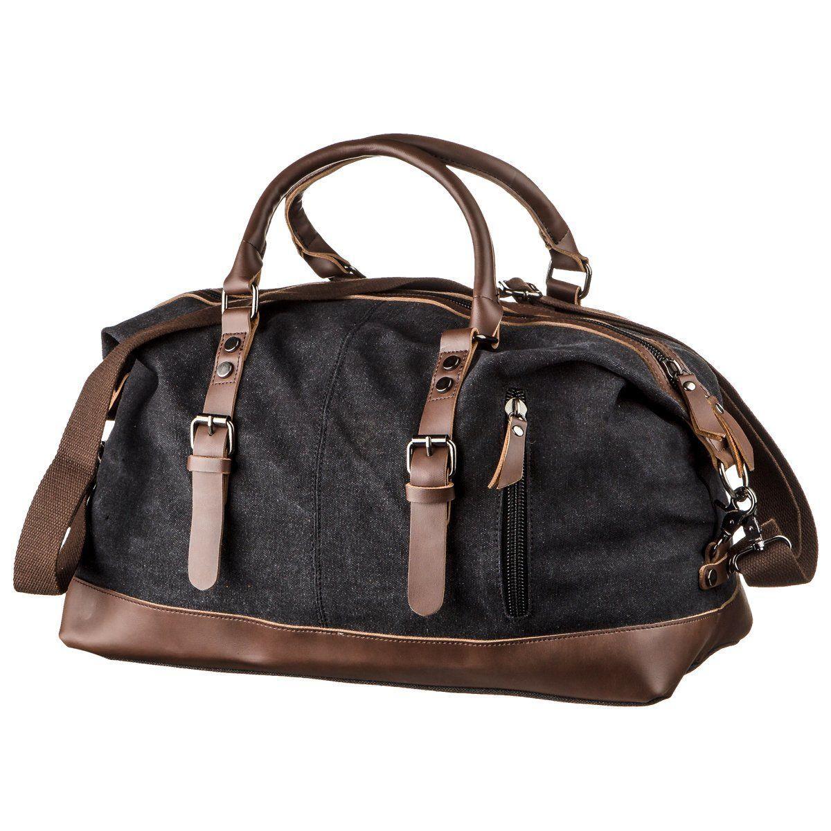 Дорожная сумка текстильная Vintage 20170 Черная