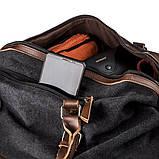 Дорожная сумка текстильная Vintage 20170 Черная, фото 3
