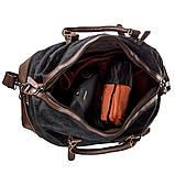 Дорожная сумка текстильная Vintage 20170 Черная, фото 4
