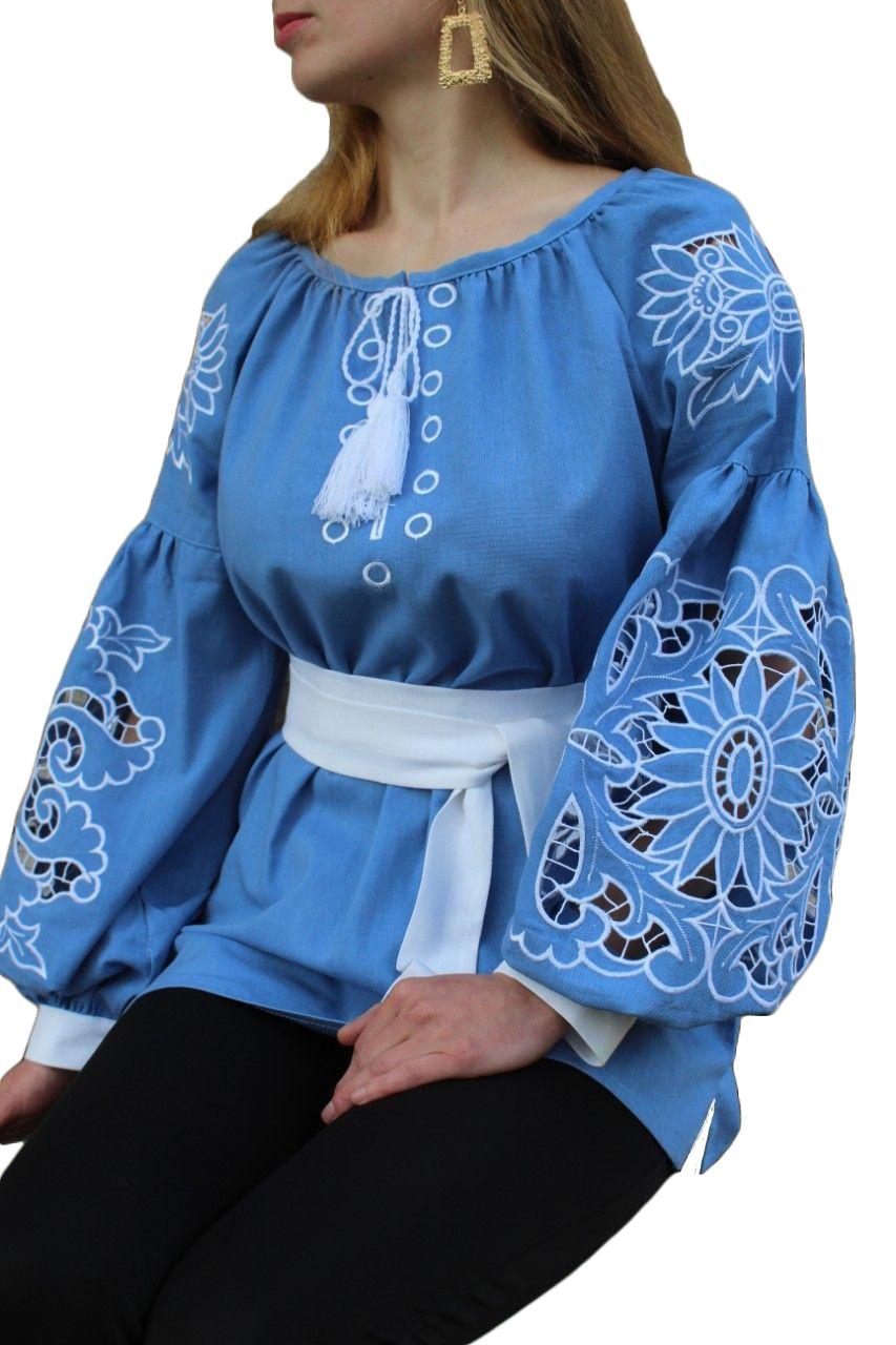 """Женская вышитая рубашка """"Тина"""" BD-0004"""