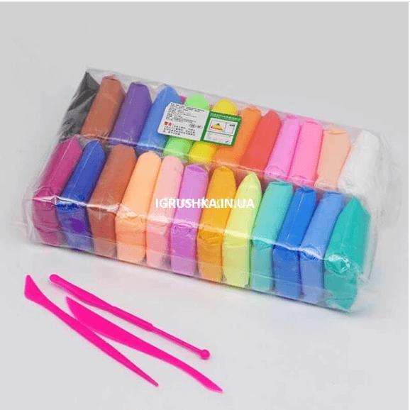 Глина для слайма набор 24 цвета