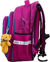 Рюкзак шкільний для дівчинки 1-4 клас ортопедичний на 3 відділу Winner One R2-162, фото 2
