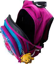 Рюкзак шкільний для дівчинки 1-4 клас ортопедичний на 3 відділу Winner One R2-162, фото 3