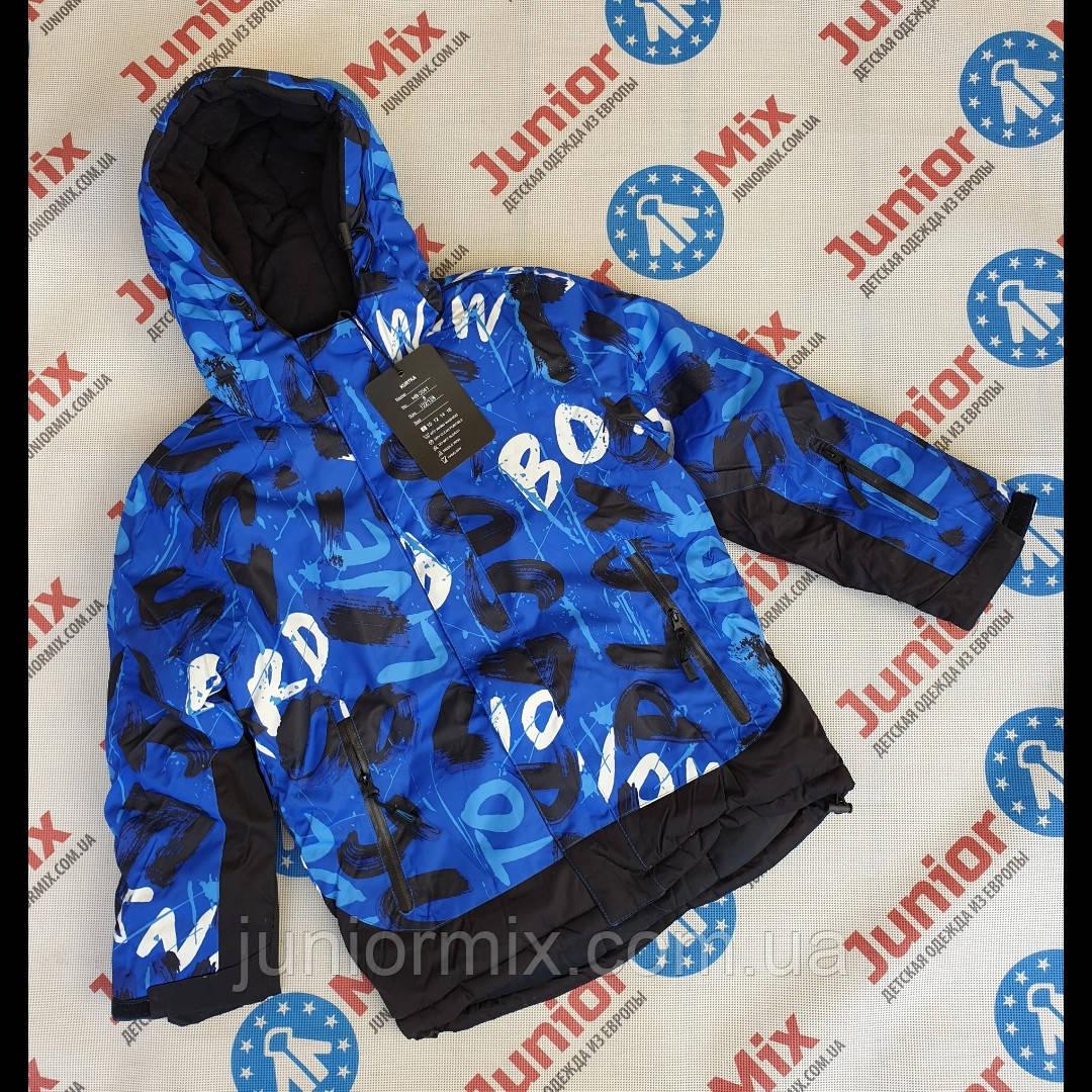 Цветная зимняя куртка на мальчика подростка  оптом