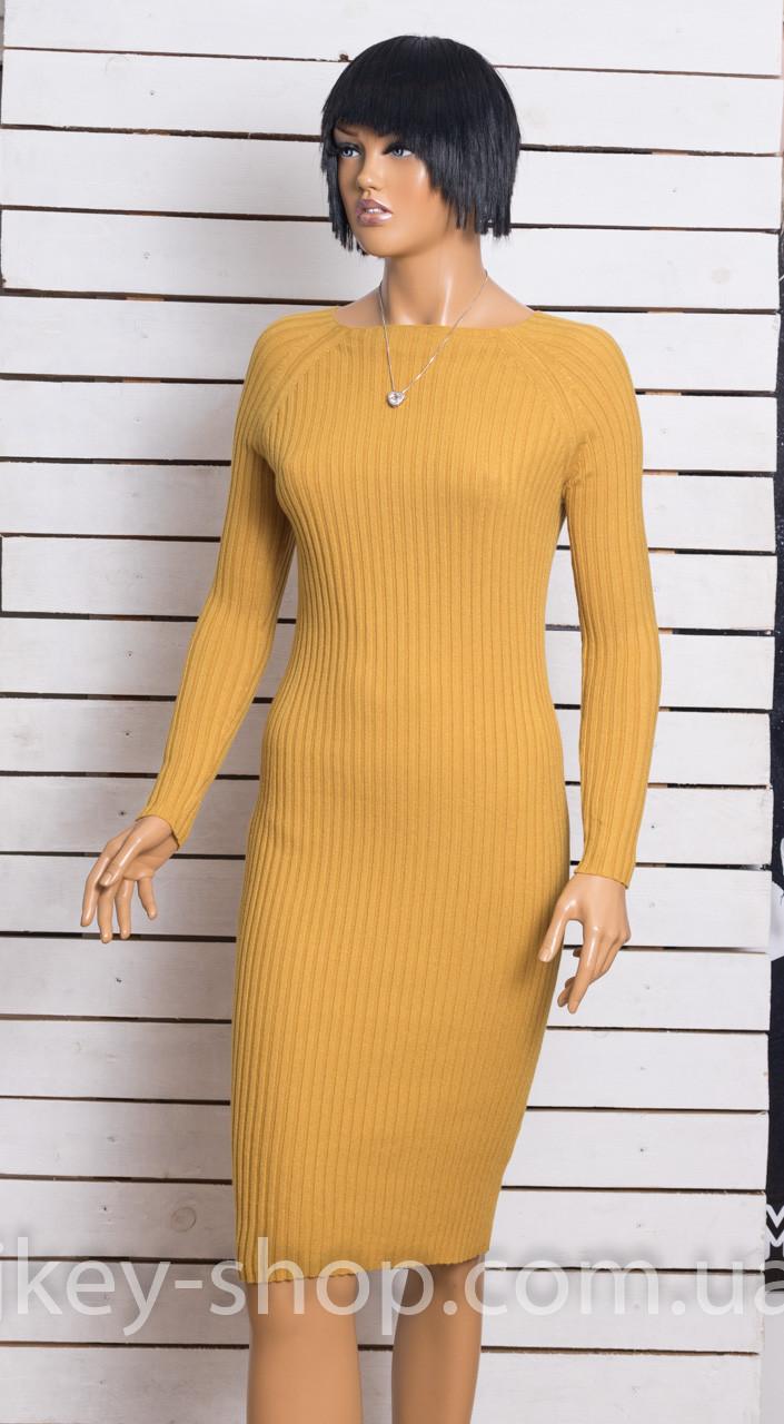 Платье трикотажное женское DOLCE PICCANTE 2611 MUSTARD