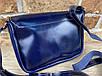Женская сумка Mimi ручной работы из натуральной кожи на кнопке цвет темно синий, фото 3