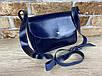Женская сумка Mimi ручной работы из натуральной кожи на кнопке цвет темно синий, фото 6