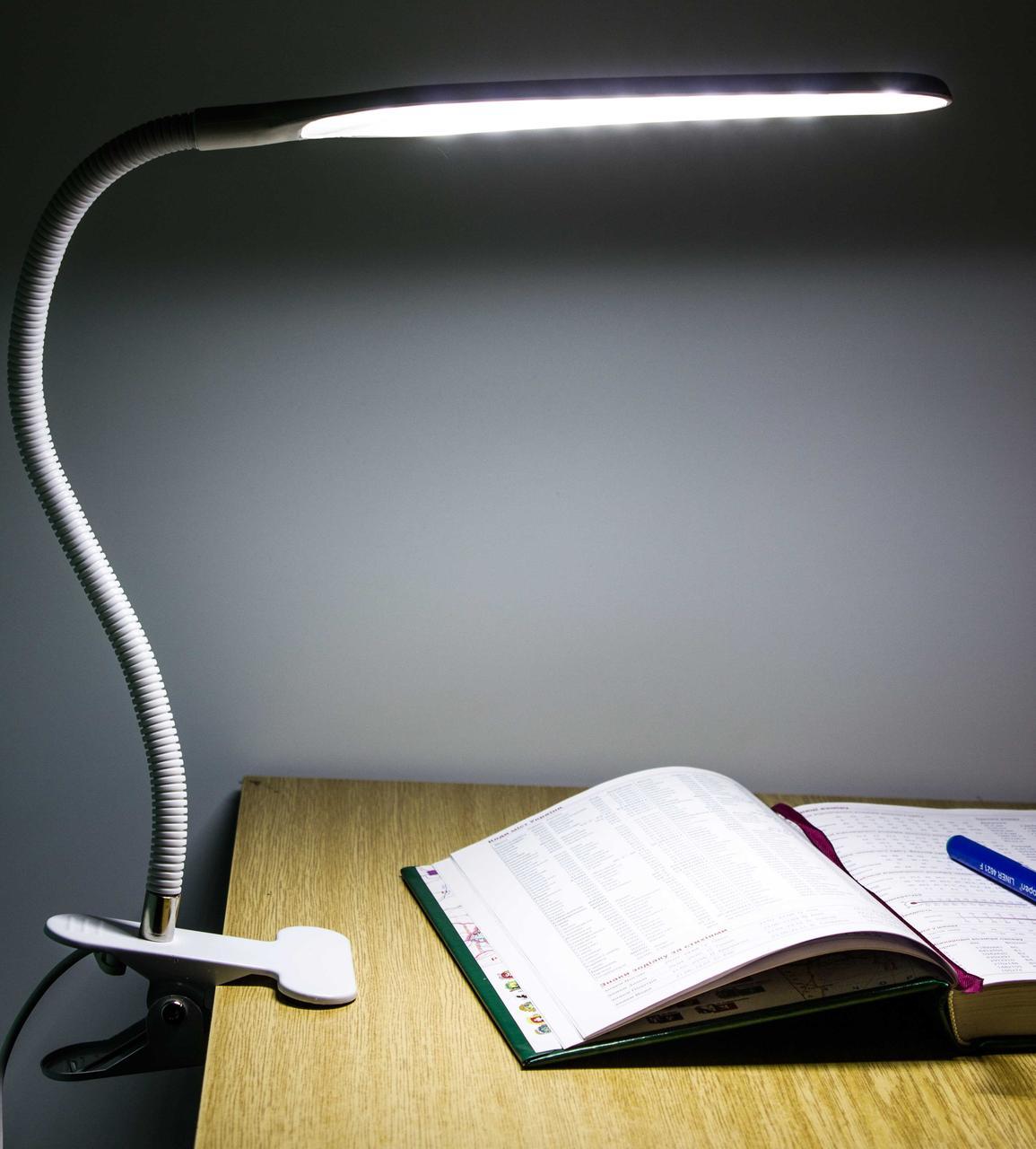 Світлодіодна настільна лампа на прищіпці XSD 206 24LED USB