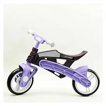 Беговел детский Real Baby, коричнево-фиолетовый, фото 3