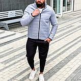 Asоs Мужская черная стеганая короткая куртка без капюшона.Мужская ветровка короткая демисезонная бомбер черная, фото 2