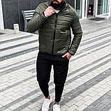 Asоs Мужская черная стеганая короткая куртка без капюшона.Мужская ветровка короткая демисезонная бомбер черная, фото 3