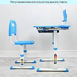 Детская парта М 4428-4 синяя со стульчиком, фото 3