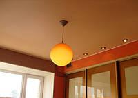 Матовый натяжной потолок в кабинете, фото 1