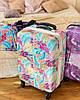 Сумка ручная кладь с резинкой на чемодан фиолетовая  / бьюти кейс, фото 4