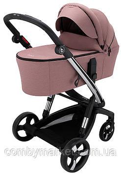 Детская коляска 2 в 1 Bair Electra B-touch system (с электронной системой торможения) Розовый
