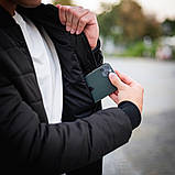 Мужская серая короткая стеганая куртка ветровка демисезонная. Мужской бомбер серый осень, фото 6