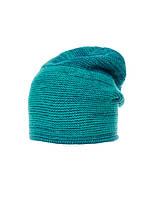 Красивая теплая вязаная женская шапка мелкой вязки.