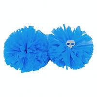 Голубые помпоны шары круглые для танцев и чирлидинга.