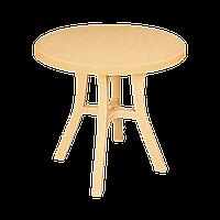 Стол круглый Irak Plastik Royal 80 см тик