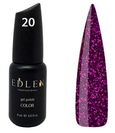 Гель-лак EdLen №20 (лиловое сияние, микроблеск), 9 мл