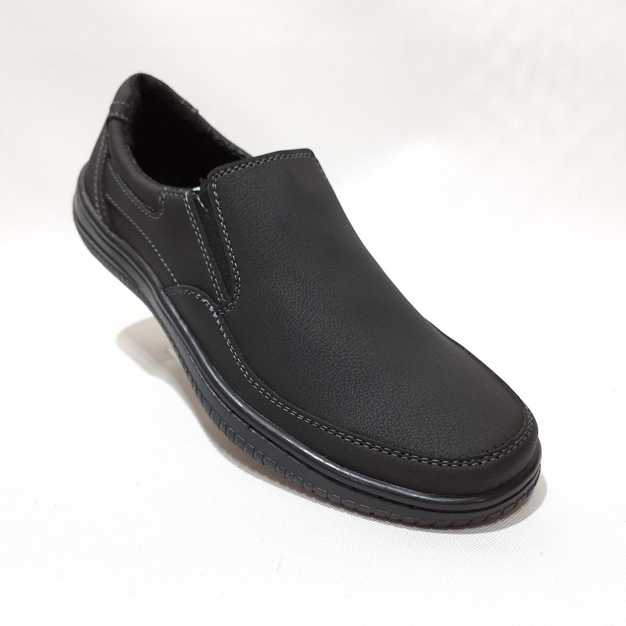 40,43 р. Мужские туфли прошитые Львовские из эко-кожи Черные хорошее качество