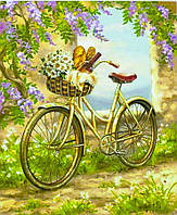 "Картина по номерам ""Велосипед в цветах"" 40*50 см, краски - акрил"