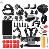 Комплект, набор креплений для экшн камер 21 в 1 Gopro, EKEN, SJCAM