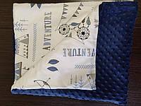 Плюшевый плед конверт для новорожденных