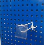 Торговий гачок (крючок) 300мм крок 35мм з цінникотримачем на перфорований метал  - 10шт, фото 10