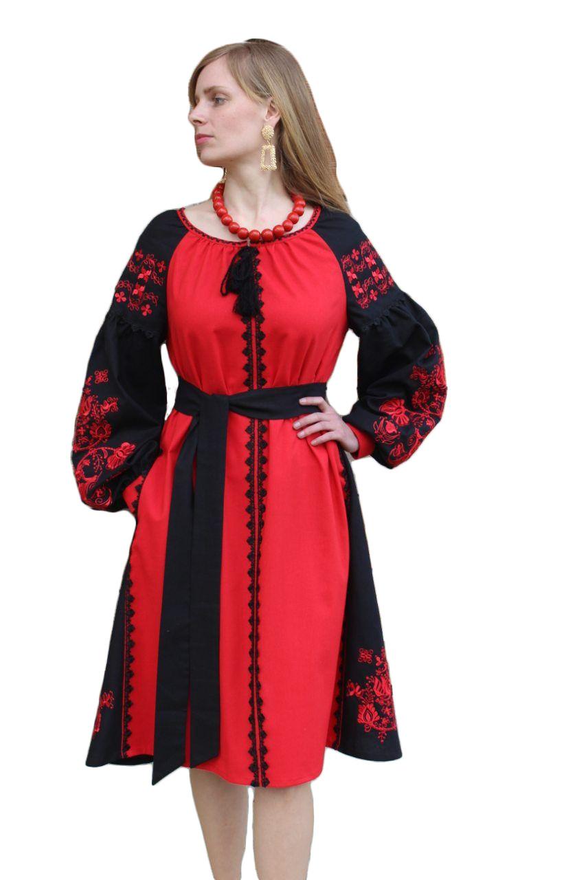 """Жіноче вишите плаття """"Клара"""" (Женское вышитое платье """"Клара"""") PD-0013"""