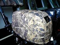 Чехол на крышку (капот) лодочного мотора SUZUKI 15\ 20 (4) инжекторный (камыш), фото 1