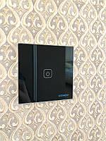 Стильный сенсорный выключатель Бонда каленное стекло цвет черный