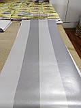 Обои бумажные VIP Полоса широкая серый с серебром 41203, фото 7