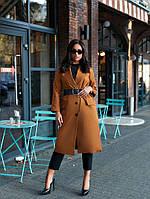 Женское осеннее пальто длинное на пуговицах натуральный коттон размер 42-46, 48-52,54-58