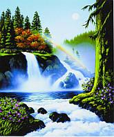 """Картина по номерам """"Водопад в лесу"""" 40*50 см, краски - акрил"""