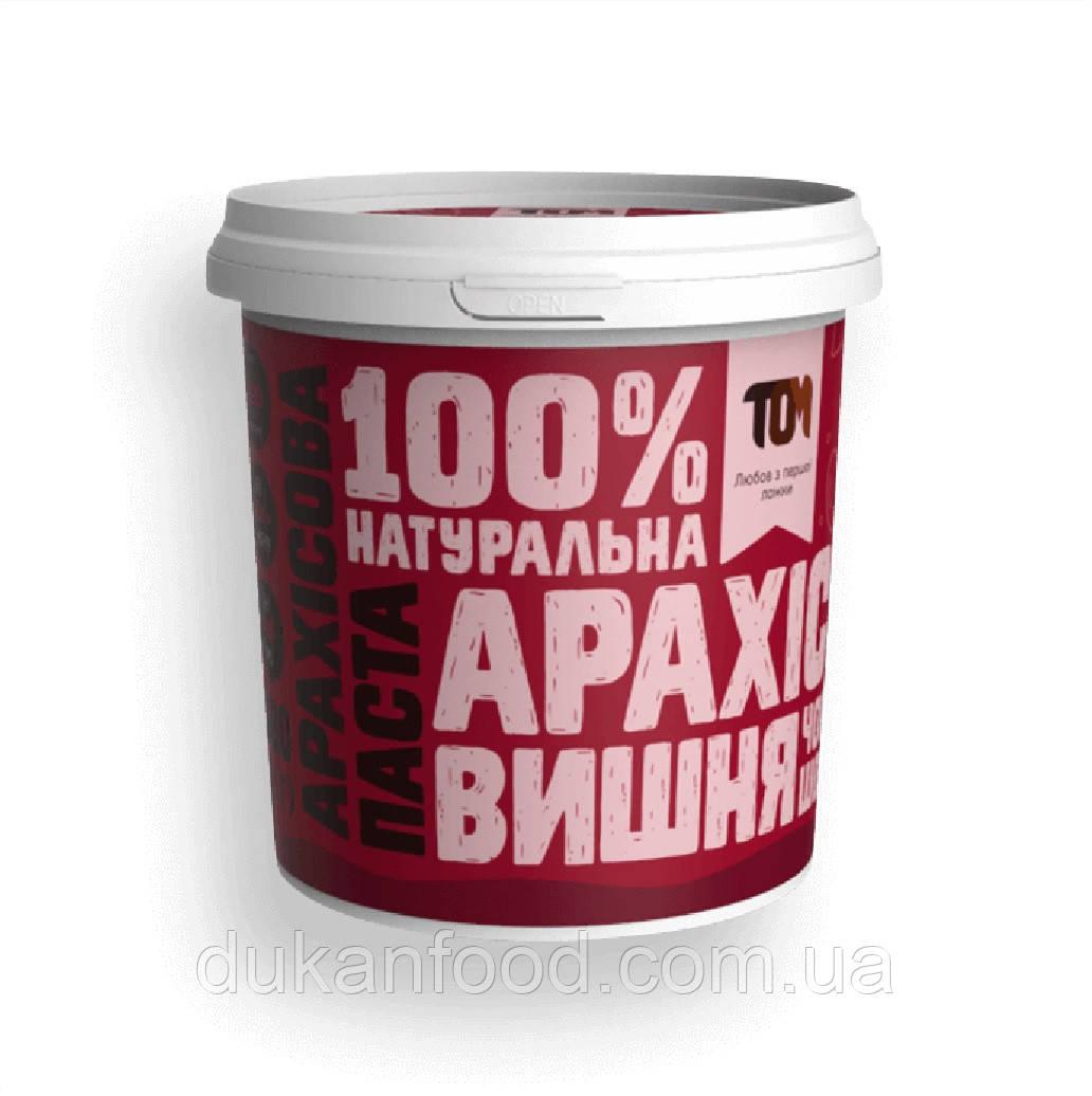 Арахисовая паста С ЧЕРНЫМ ШОКОЛАДОМ И ВИШНЕЙ, тм ТОМ, 500 г