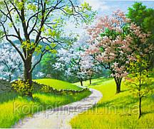 "Картина по номерам ""Весенний пейзаж"" 40*50 см, краски - акрил"